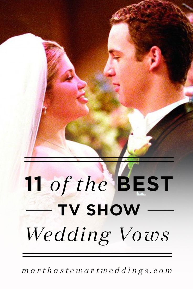 11 of the best TV show wedding vows