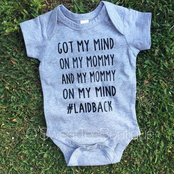 Got My Mommy On My Mind/ Baby Boy Onesies/ Boys Shirts/Laidback/ Grey Oneise/