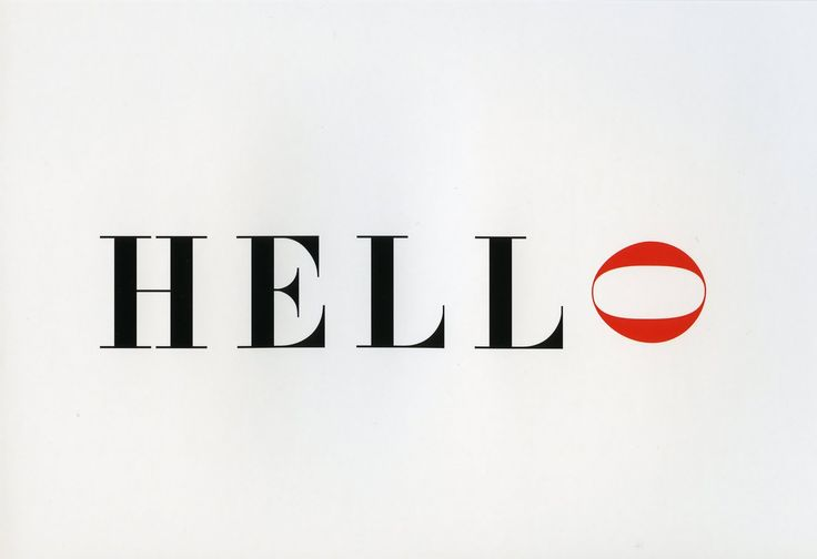 Hello, Alan Fletcher, graphic design, typography, clever, smart, words with character