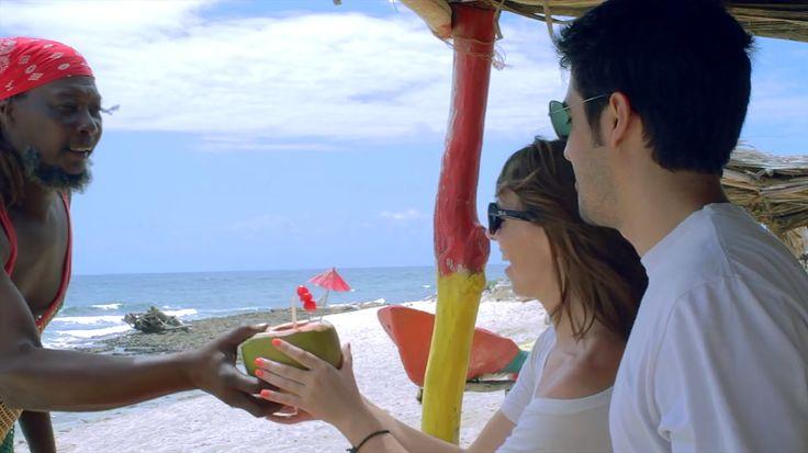 Apenas para un día soleado: un coco loco en la isla de San Andrés, Colombia :)
