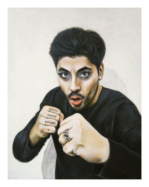 Riccardo_Soloperto/ Selfportrait - Oil on canvas - 35cmx45cm