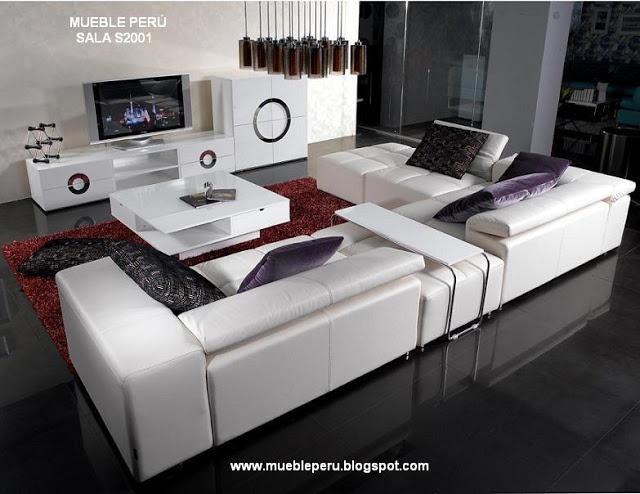 Sofa seccional s2001 finamente tapizado en cuero original - Tu sofa a medida ...