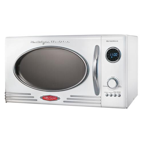 Nostalgia Electrics White Retro Microwave Other Colors