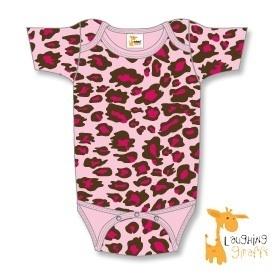 Rompertje korte mouw luipaard roze