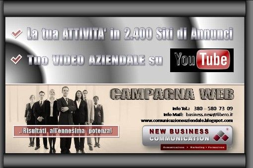 PUBBLICHIAMO LA TUA ATTIVITA' IN 2.400 SITI DI ANNUNCI !!! - CAMPAGNA WEB su Viadeo.com