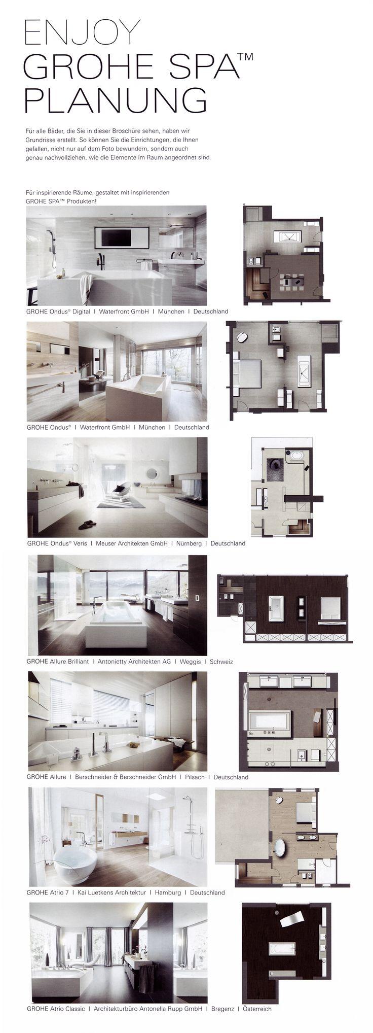 Grohe Spa Planning | Планировки | Планировка | План | Ванные комнаты | Санузлы