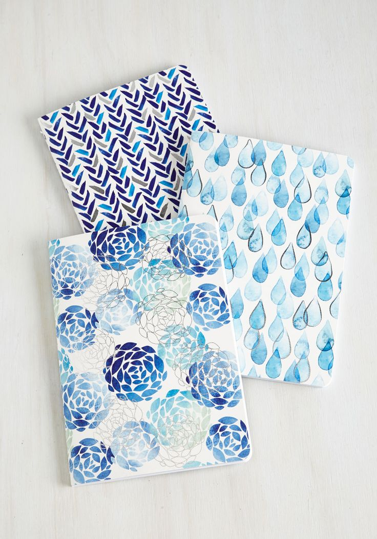 Your Point of Blue Notebook Set. Jot down the details of your jovial jaunts in these darling notebooks! #blue #modcloth