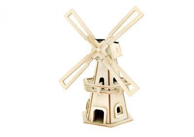 RoboTime - Drevená stavebnica - Solárny veterný mlyn I