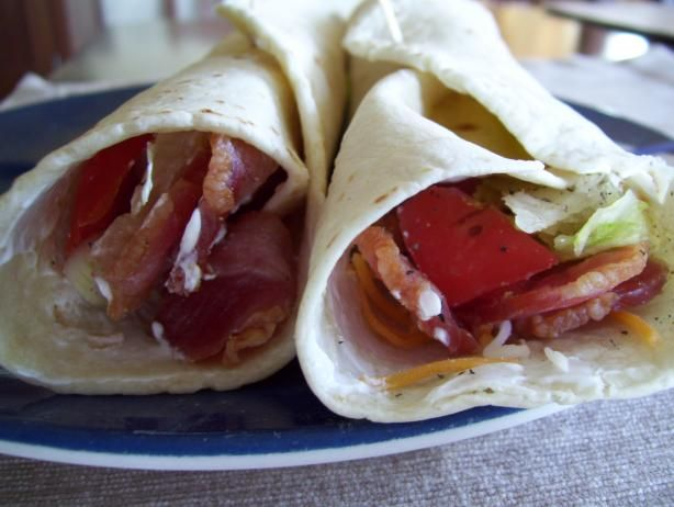 A Fun And Frolic Kind Of Avocado, Bacon, And Tomato Wrap Yippee! Recipe - Food.com - 254176