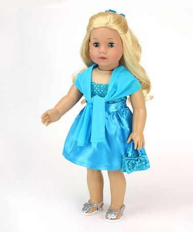 Look what I found on #zulily! Turquoise Dress Outfit for 18'' Doll #zulilyfinds