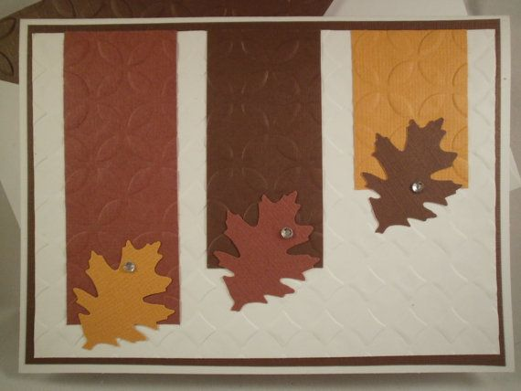 Three Leaves Handmade Thanksgiving Card by ComingUpCrafts