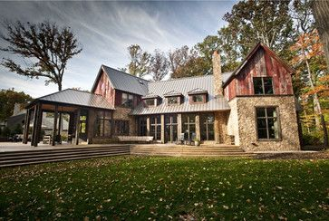 1000 ideas about brown house exteriors on pinterest - Rustic modern farmhouse exterior ...