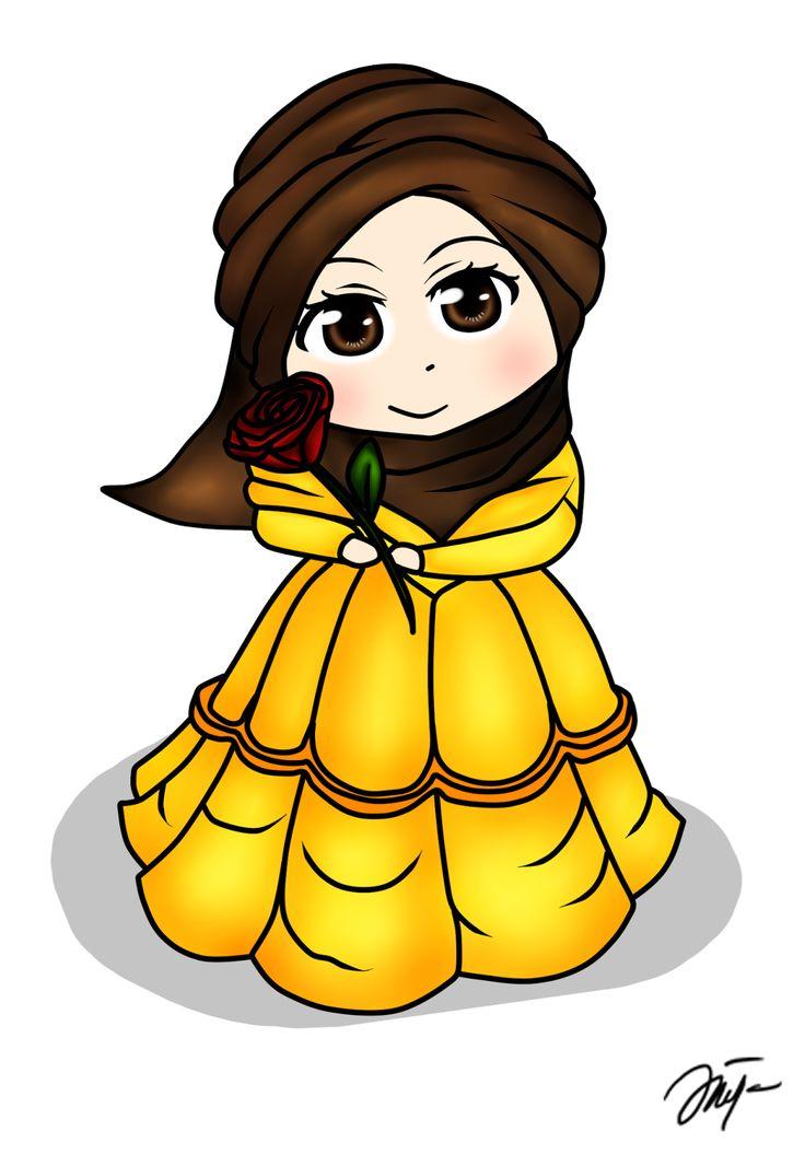 Diya Hanun: Chibi doodle Disney Princess Hijab Version Part 1