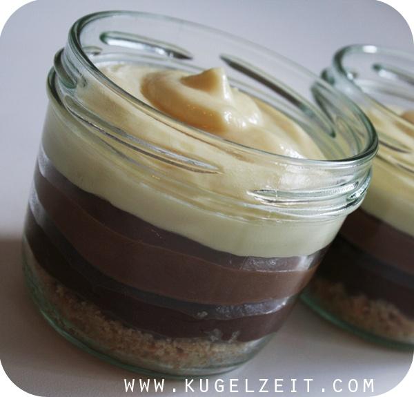 Triple Choc Cheesecake im Glas als Nachtisch