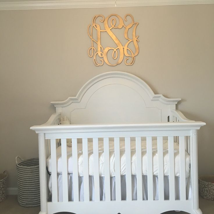 Gold nursery monogram