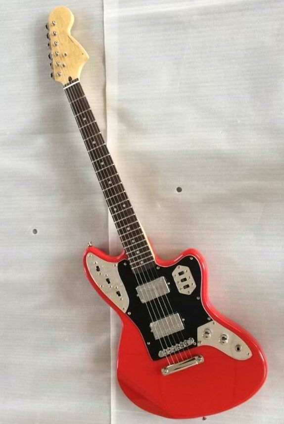 Wholesale classic Fdr Jaguar Model Electric Guitar With Humbucker Pickups Best Quality In Red 150420 #Affiliate