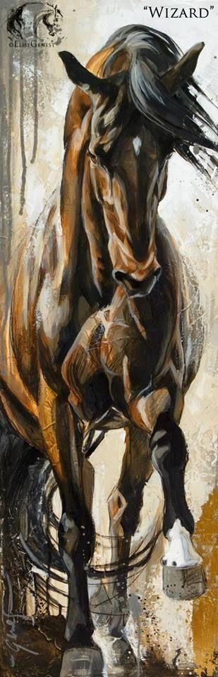 Elise Genest Arts #horse #painting by monique