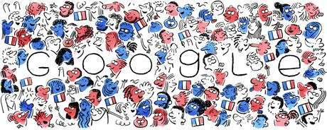 Bastille Day 2016  Date: July 14 2016  Location: France  Tags: Animation National Holiday faces flag