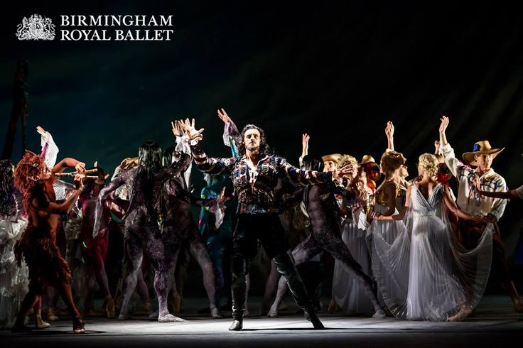 Iain Mackay as Prospero, the former Duke of Milan, with Artists of Birmingham Royal Ballet