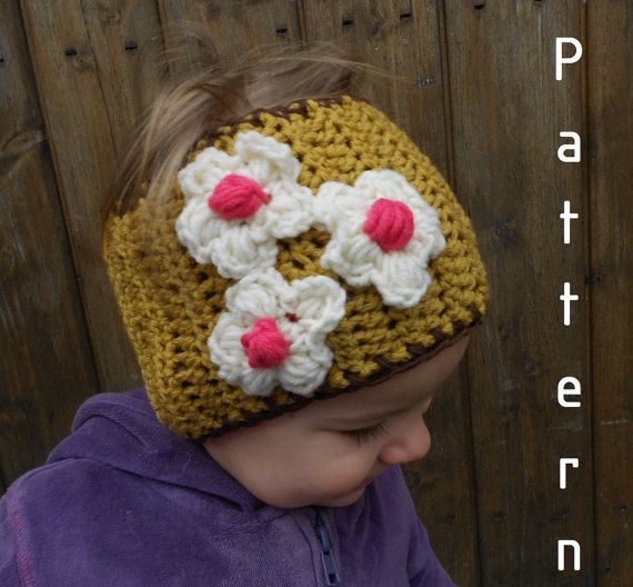 Crochet pattern-for the Cherry Blossom Headwarmer Toddler/Children