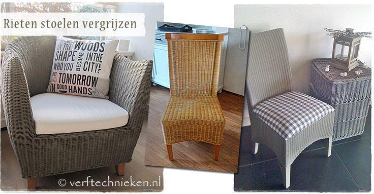 Lloyd loom stoelen en rieten stoelen vergrijzen of whitewashen, kan dat? Jazeker en in dit artikel leg ik je uit hoe dat aanpakt.