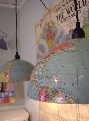 globe lamp | Gorgeous DIY globe light | greenheartarchitects