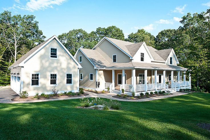 Farmhouse Style House Plan - 4 Beds 3.5 Baths 3493 Sq/Ft Plan #56-222 Exterior - Front Elevation - Houseplans.com