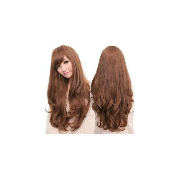 Long Full Wig - Wavy ($35) ❤ liked on Polyvore featuring beauty products, haircare, hair styling tools, hair, hairstyles, accessories, beauty and wig