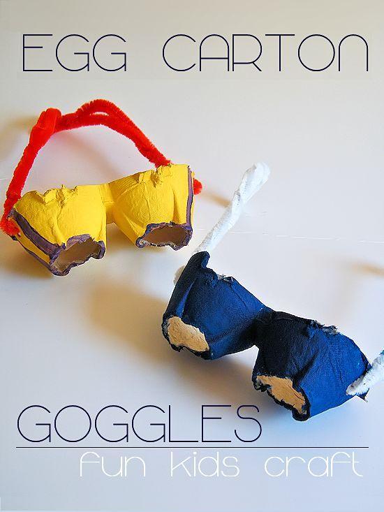 How to make Egg Carton Goggles - a fun kids craft!