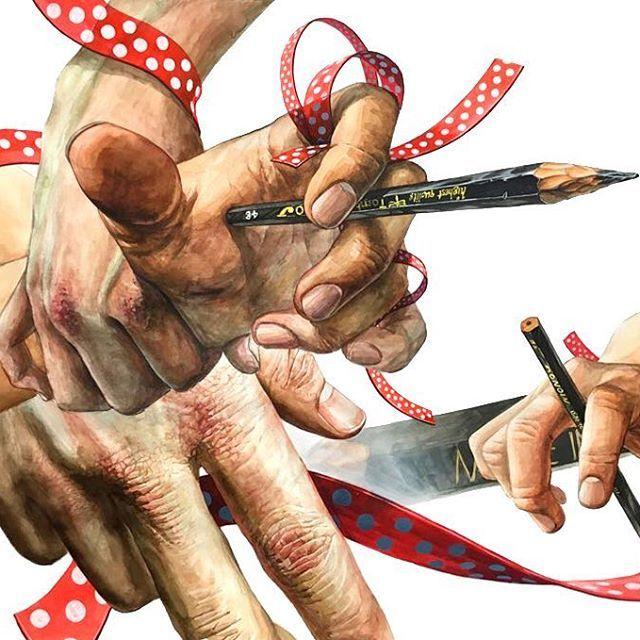 #디자인 #입시미술 #미술 #기초디자인 #art #design #미대입시 #그림 #illust #f4f #follow #포항 #나다움 #미술학원#기디#포항나다움#watercolor#연구작#손#hand #drawing