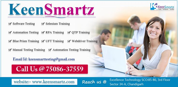 Enroll yourself for Keensmartz for Software testing training, selenium training, Automation training, RPA training, QTP training, UFT training and Automation testing training in Chandigarh. For more details visit here -