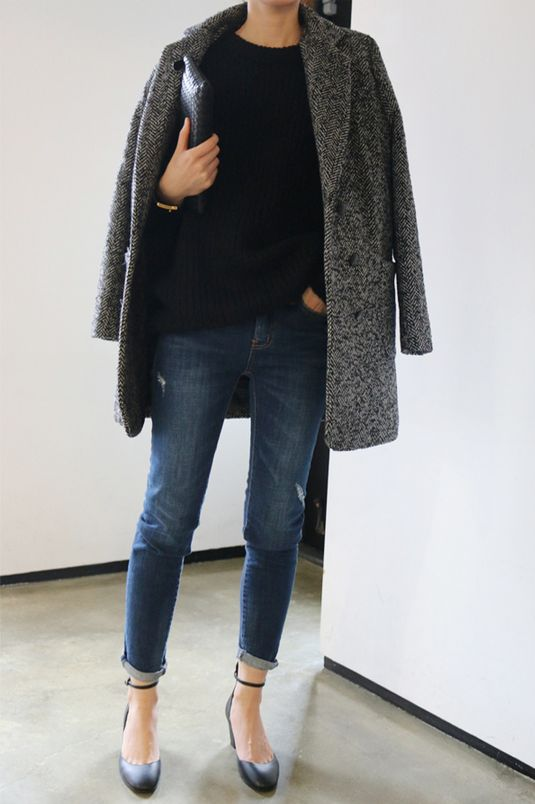 Manteau en tweed pour l'automne-hiver.