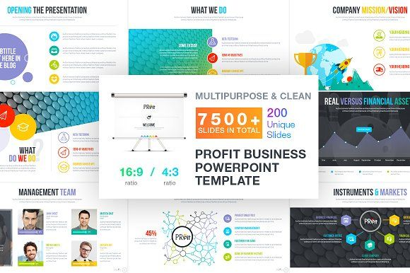 Profit   Business Template by artBeta-2 on @creativemarket