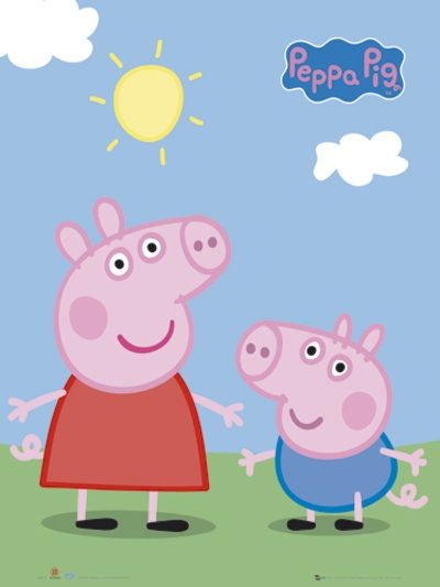 Peppa Pig + George poster