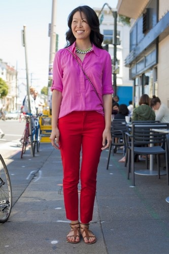 Now that is how you color-block! Via Refinery29