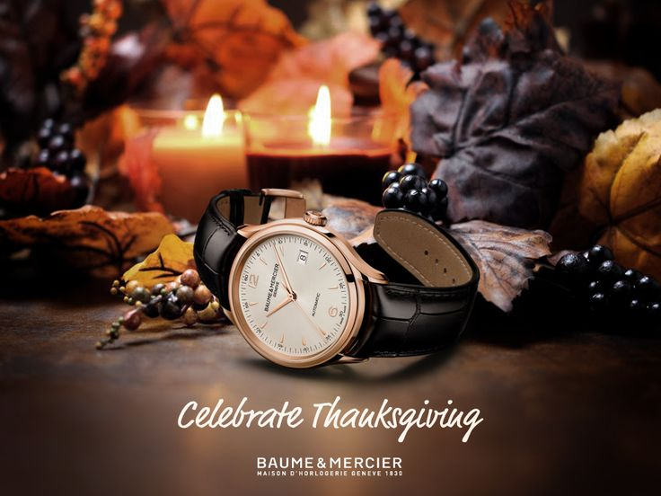 We wish you a Happy #Thanksgiving as you share your moments of thanks with family and friends. #celebrategiving #baumeetmercier