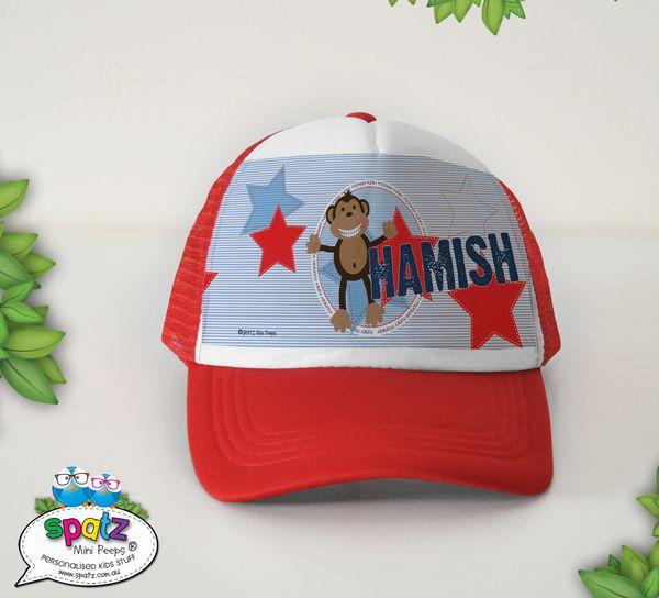 Funky Monkey - Personalised Kids Snapback Trucker Cap - SPATZ Mini Peeps®