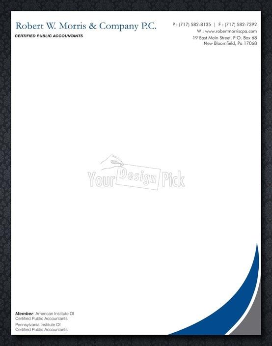 9 best letterhead images on pinterest letterhead contact paper letterhead designs for robert wrris company pc from yourdesignpick spiritdancerdesigns Choice Image