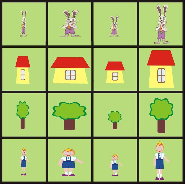 matrix begrippen voor kleuters 2, free printable