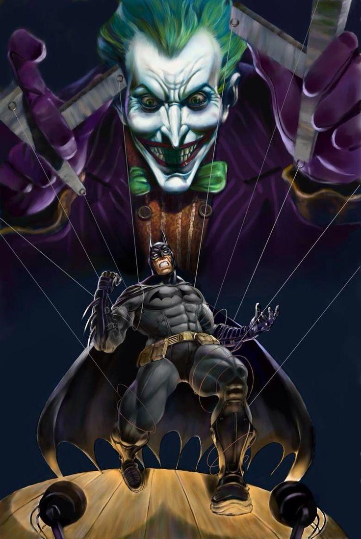 Batman Vs Joker Black And White Painting Comic