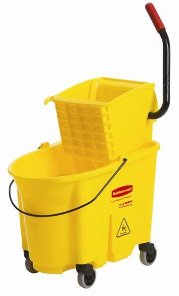 Facility Cleaning Bucket and Sidepress Wringer Combo Buy online quality grade, durable and easy to handle range of Facility Cleaning Bucket and Sidepress Wringer Combo at Linen Plus. All our product range include Wavebrake® 26/35 Quart Bucket/Sidepress Wringer ComboLower, wider front for easy pouring and larger mop target areaSupport handles in back…