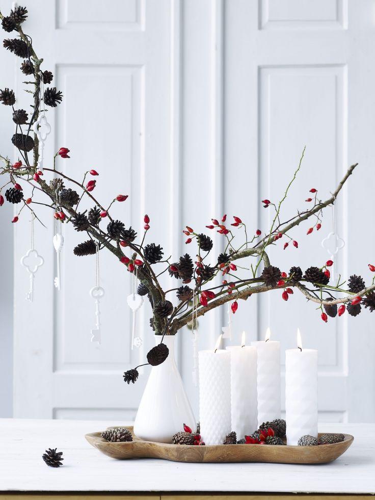 24 smukke adventskranse - PURE RED ORANGE