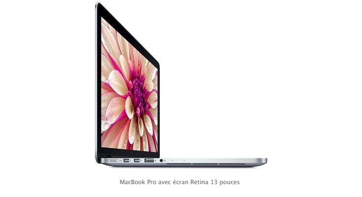Choisissez votre modèle ou personnalisez votre MacBookPro, disponible en 13 ou 15 pouces. Achetez en ligne ou rendez-vous dans un Apple Store.