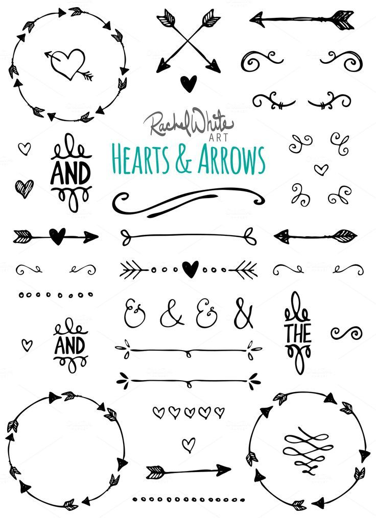 Hearts & Arrows Vector Illustrations – 84 images – Black, White – AI EPS PNG – Instant Download