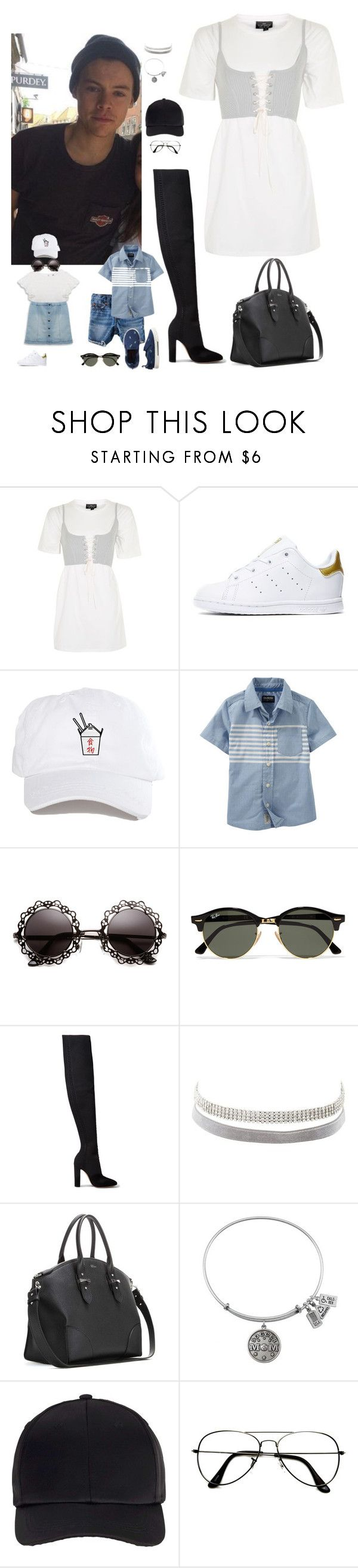 """Sin título #1275"" by wiki0622 ❤ liked on Polyvore featuring Topshop, adidas Originals, Carter's, Ray-Ban, Gianvito Rossi, Charlotte Russe, Alexander McQueen, Miss Selfridge and ZeroUV"