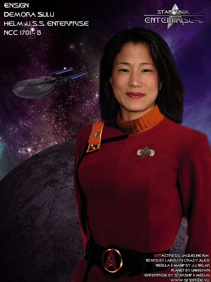 Sulu's daughter Demora, from Star Trek Generations.