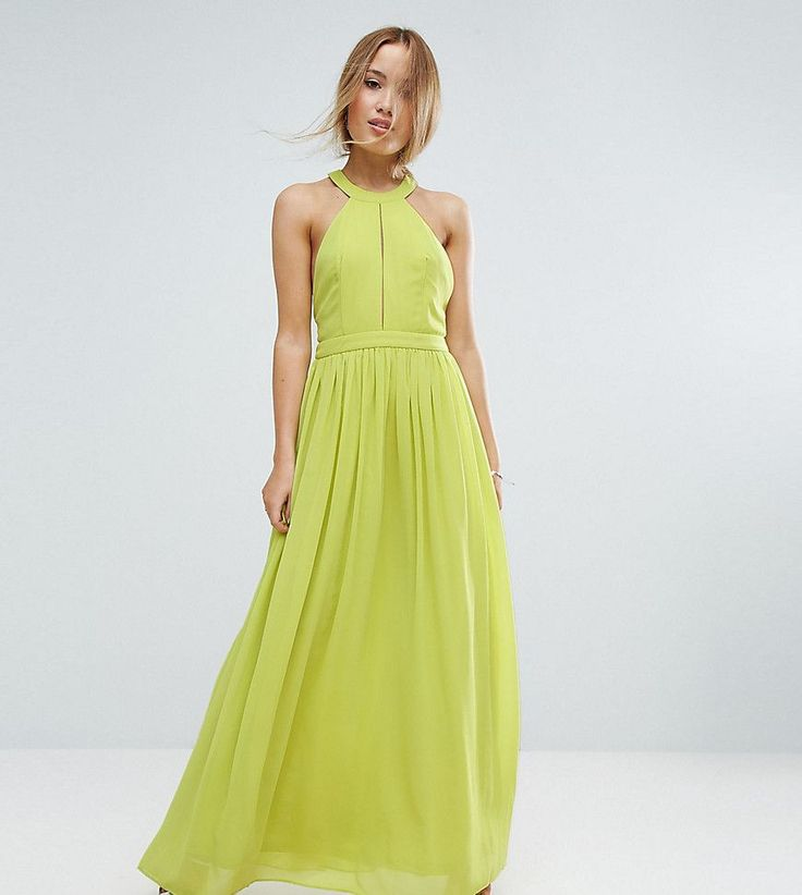 TD By True Decadence Petite Plunge Front Maxi Dress - Green