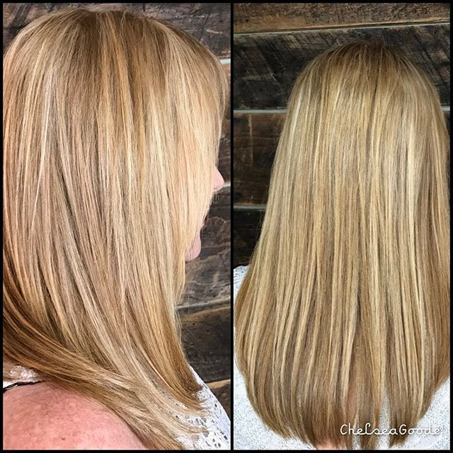 Great Lengths Extensions for the win again! Lengthening and volume for this multidimensional blonde babe! I used my new #coldfusion machine today and loved it ! We were able to fill in the bang area for extra volume with flat attachments instead of the traditional round.