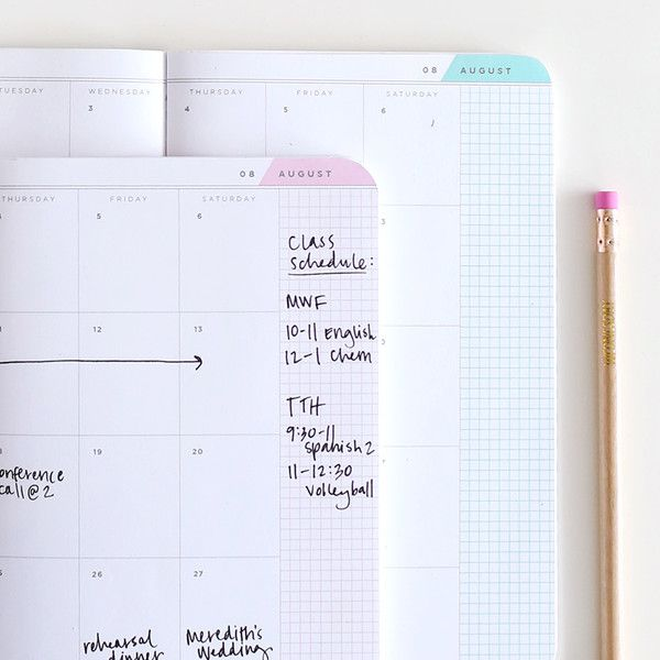 May Designs 2016-2017 Academic Agendas. These planners are now available with both aqua and blush inside pages!