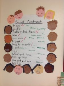 Bishop's Blackboard: A First Grade Blog: Social Contract
